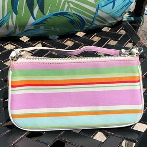 Coach Small Shoulder Bag with Bright Strip…
